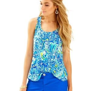 """LILLY PULITZER Cordelia """"After Party"""" tank top"""